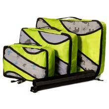 Packing Cubes 3 Pcs/set Nylon Travel Bag Set Organizer Luggage Bags Large Capacity Hand Clothing Sorting Bolsa De Viaje