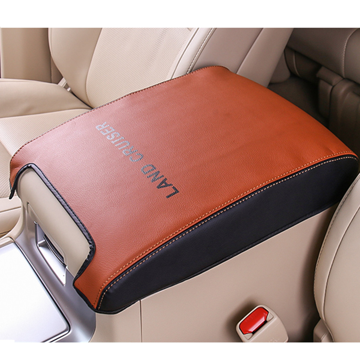 Image 3 - Leather Car Armrest Case Cover for Toyota Land Cruiser 200 LC200 2008 2009 2010 2011 2012 2013 2014 2015 2016 2017 2018-in Chromium Styling from Automobiles & Motorcycles