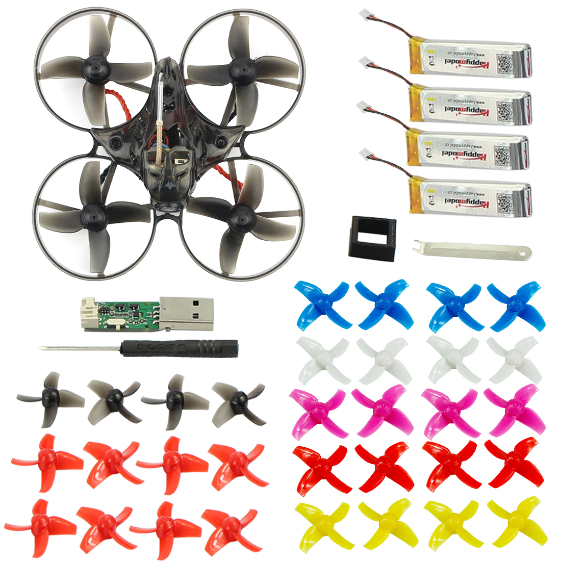 Mobula7 75mm empattement 2 S sans brosse BWhoop FPV course Drone moteur corps coque émetteur batterie enfants jouets 10 paire prop pour cadeau