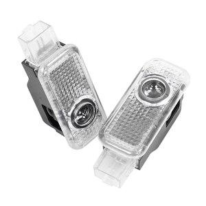 2 светодиодный светильник с логотипом двери автомобиля для AUDI A1 A5 A7 A8 Q3 Q5 Q7 A4 B5 B6 B7 B8 B9 A6 C5 C6 C7 A3 V8 8V 8P 8L 80 90 100