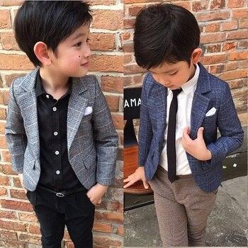 d4263dfef9b53 Yeni Varış 2018 Bahar Sonbahar Erkek Rahat Ekose Takım Elbise Ceket Erkek  Çocuk Takım Elbise Ceket Palto çocuk Resmi Kıyafetleri Giyim x72