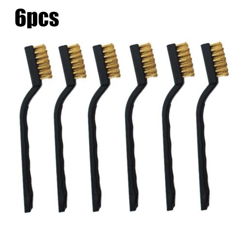 3/6pcs/set Mini Metal Remove Rust Brushes  Brass Cleaning Polishing Detail Metal Brushes Cleaning Tools Home Kits