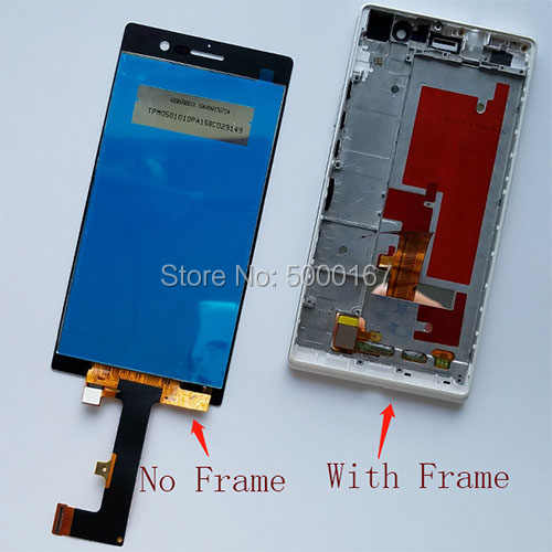 Assemblée D'affichage d'affichage à CRISTAUX LIQUIDES D'écran tactile Pour huawei Ascend G7 Plus P7 P8 C199 G630 G7Plus G8 GX8 RIO TL00 UL00 UL20 L00 L09 L07 L05 GRANULATEUR
