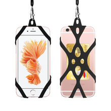 Phone Lanyard Holder Case Cover Universal Silicone Cell Phone Neck Strap Necklace Sling For Smart Mobile phone lanyard for phone(China)