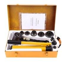 Ручной гидравлический, Круглый Дырокол комплект металлообработки ручной инструмент с 6 штампами