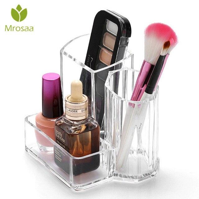 Clear Makeup Box Cosmetic Storage Box Makeup Brushes Organizer