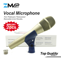 2pcs/lot Top Quality KSM9 Professional Live Vocals KSM Dynamic Wired Microphone Karaoke Supercardioid Podcast Microfono Mike Mic