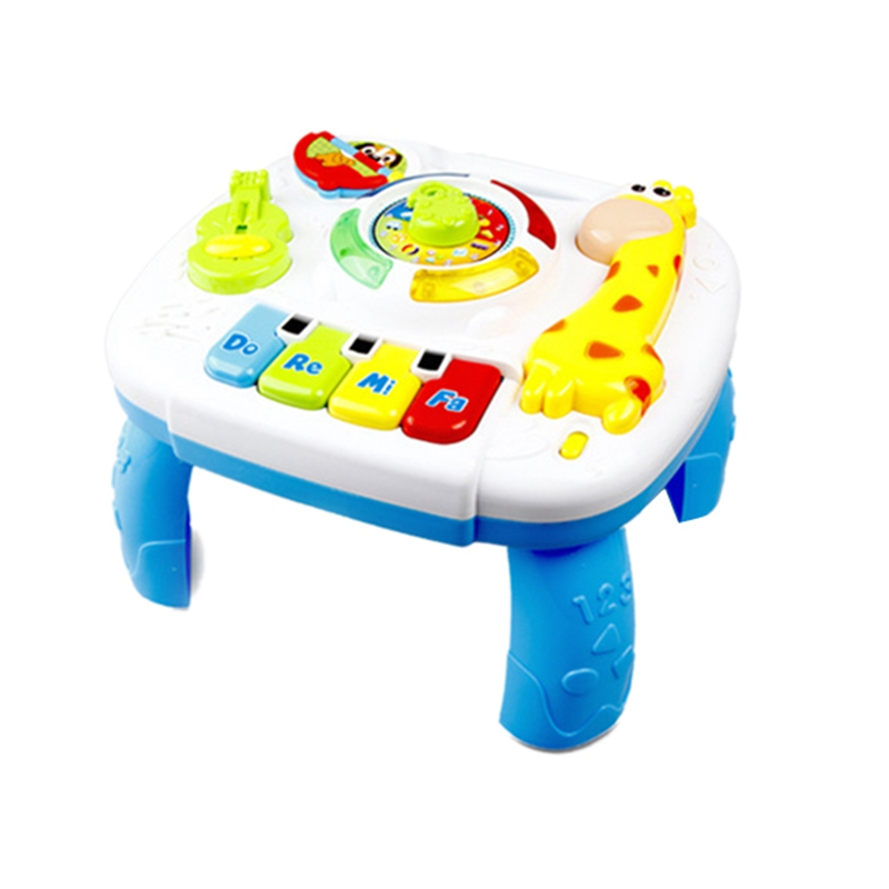 Baby Toy Music Study Table Early Education Music Activity Center Game Table