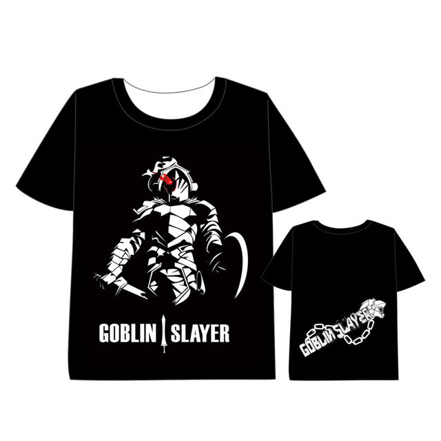 2c82e375554 Hot Anime Goblin Slayer T-shirt Men Women Short Sleeve Summe dress Cosplay  Costumes Tops Unisex Harajuku t shirt