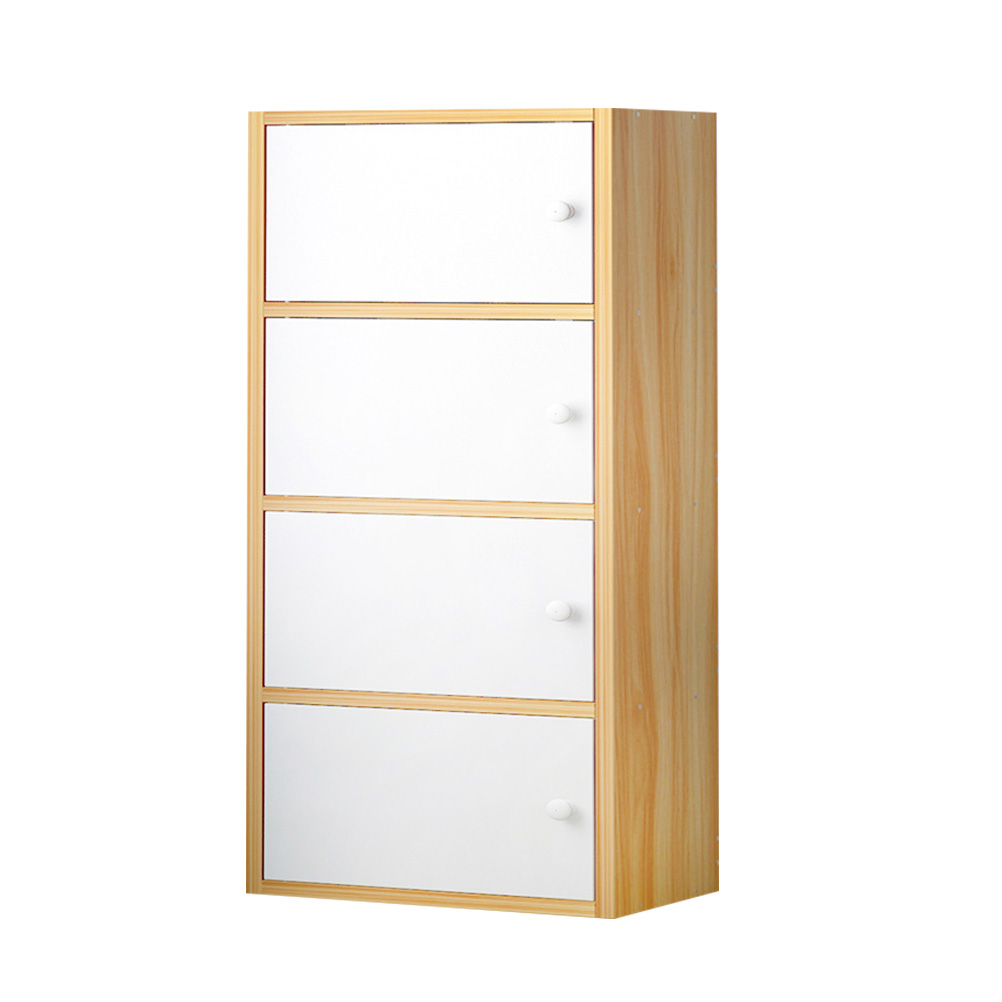 . US  63 76 48  OFF 1pc Simple Creative Book Shelf Fashion Modern Bookcase  Storage Cabinet Funiture for Home Office  4 Doors Light Yellow and  White  in