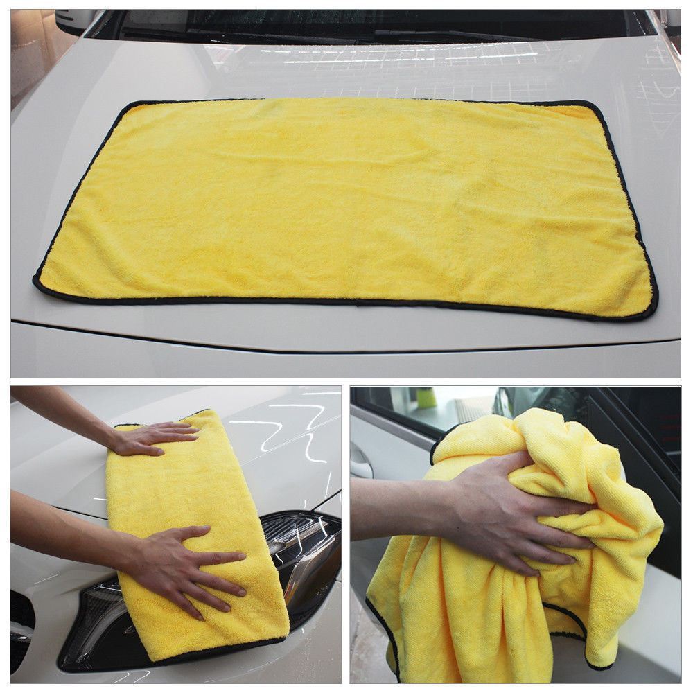 NEW Super Absorbent 74cm x 90cm Twist Korean Microfibre Car Drying Towel Cloth Grey