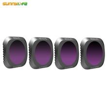 Sunnylife 4 Cái/bộ DJI MAVIC 2 PRO Drone ND8 PL ND16 PL ND32 PL ND64 PL Bộ Lọc Ống Kính