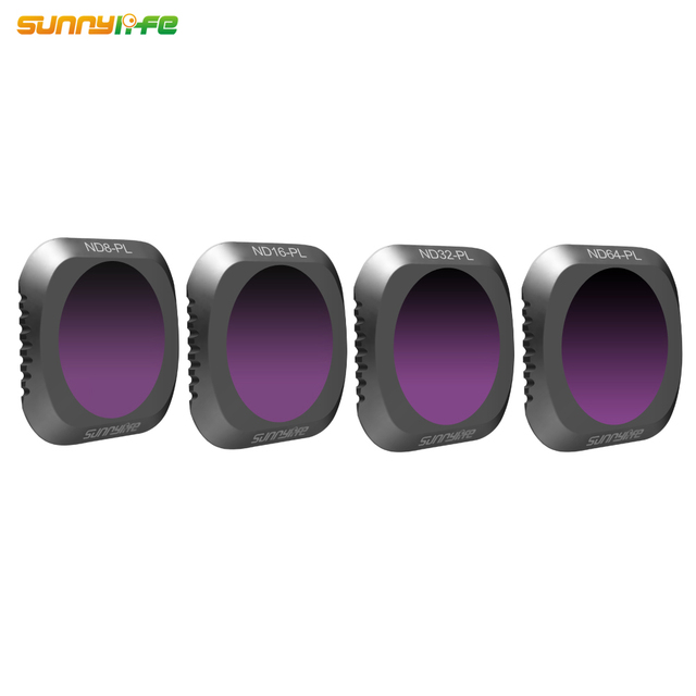 Sunnylife 4 teile/satz DJI MAVIC 2 PRO Drone ND8 PL ND16 PL ND32 PL ND64 PL Objektiv Filter
