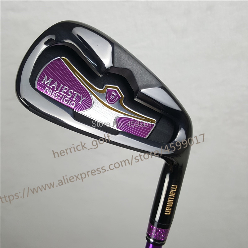 2019 Women Golf Iron Set Maruman Majesty Prestigio 9 Golf Irons5-10 P.A.S Irons Set Golf Clubs Graphite Shaft L Flex Headcover