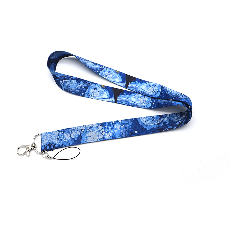 Koolbey Van Gogh Starry Night Lanyard Badge ID Lanyards/ Mobile Phone Rope/ Key Lanyard Neck Straps Accessories SC4584