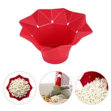 Складной силиконовый контейнер для попкорна в микроволновой печи, инструменты для выпечки попкорна, домашняя вкусная чаша для попкорна, кухня