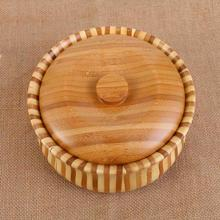 Wooden Fruit Bowl Wooden Fruit Pan Big Wooden Bowl With Cover Bamboo Made Zebra Fruit Bowl