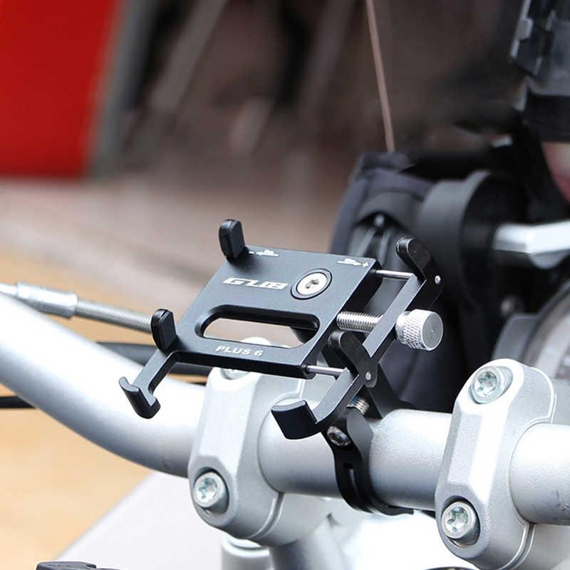 GUB Plus 6 Plus 3 อลูมิเนียม MTB จักรยานจักรยานผู้ถือโทรศัพท์สนับสนุนรถจักรยานยนต์ผู้ถือ GPS สำหรับจักรยาน Handlebar อุปกรณ์จักรยาน