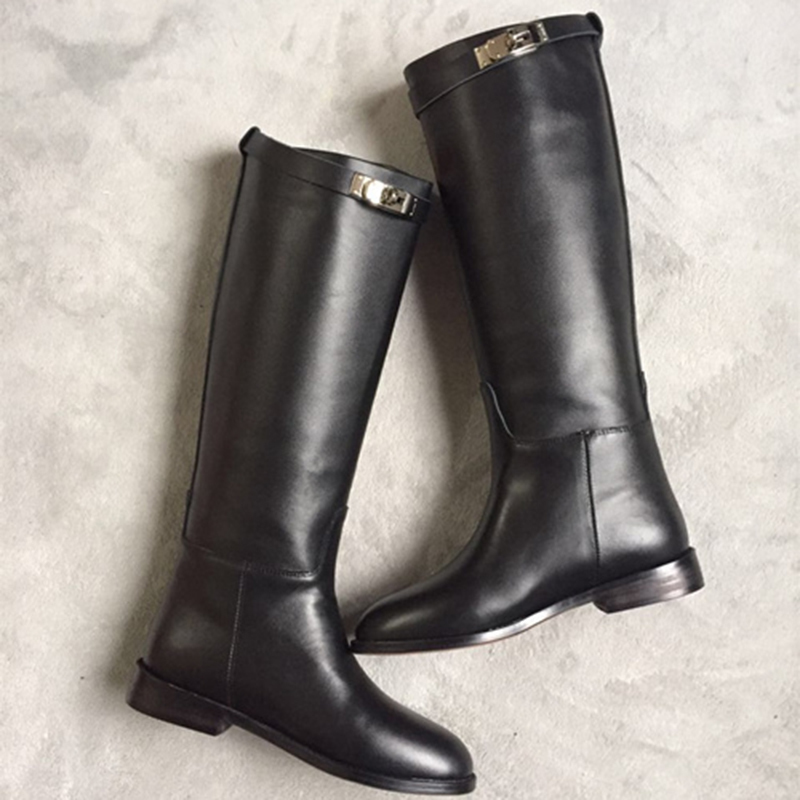 Cuir Automne De Pic flock Bout Zapatos Chaussures Bas Femmes Inside Mi Bottes As Mujer as flock mollet Hiver Dames Ceinture 2018 Talons Rond Inside Boucle Western Chaude Pic En qtHO7O