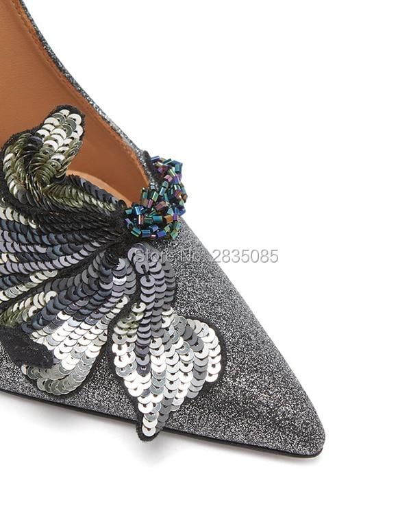 Flor Altos as Diseñadores Pic Tacones Pic Lujo Zapatos Lentejuelas Tacon As Boda Mujer Sexy Brillo De Qianruiti Stiletto xHawPza