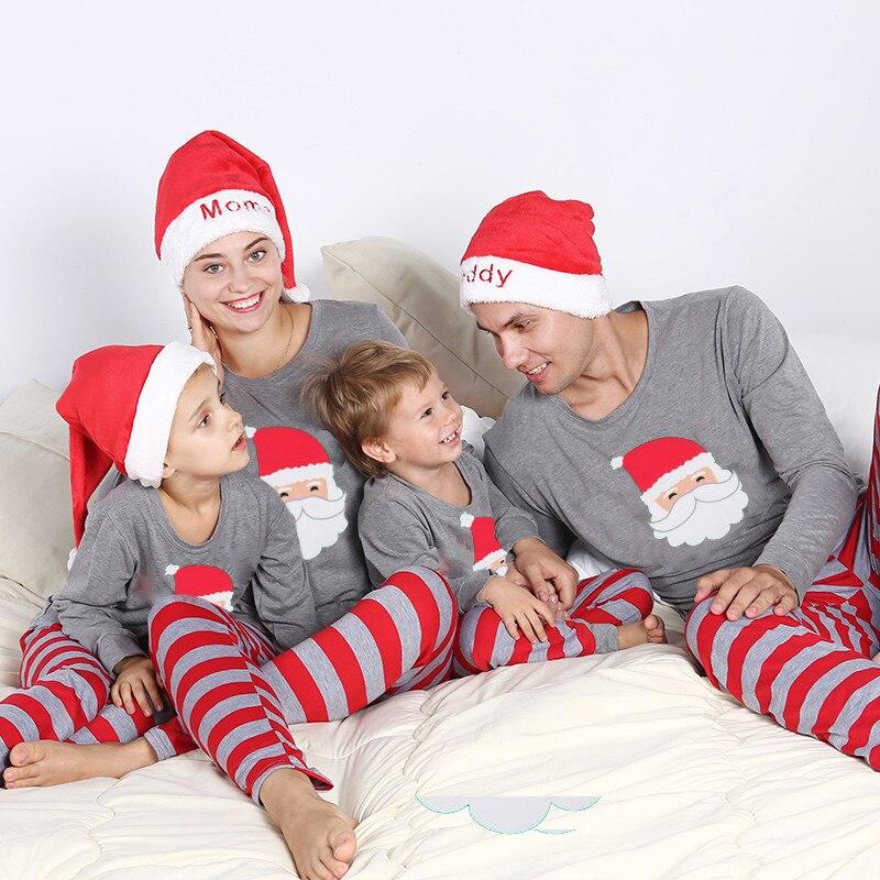 Weihnachten Pyjama Familie.Weihnachten Familie Frauen Männer Erwachsene Kinder Baby Weihnachten Nachtwäsche Nachtwäsche Pyjamas Set Casual Santa Streifen Passenden Outfits