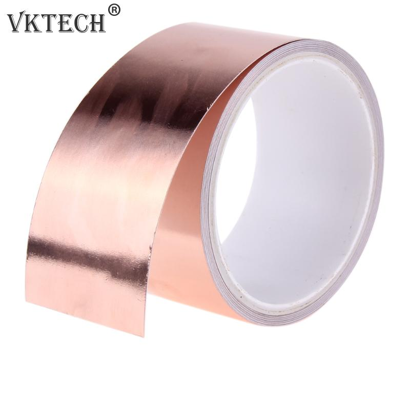 Copper Foil Shielding Tape 100mm x 1M Double Conductive Self Adhesive Barrier