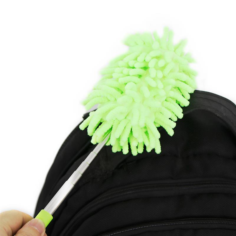 Car-Cleaning-Brush Duster Shan-Washer Drag-Wax Stainless-Steel Auto Microfiber Long-Handle