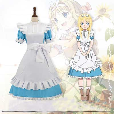 New Arrival Alicization Sword Art Online Alice Synthesis Thirty Lolita Maid Anime Cosplay Costumes Custom Made