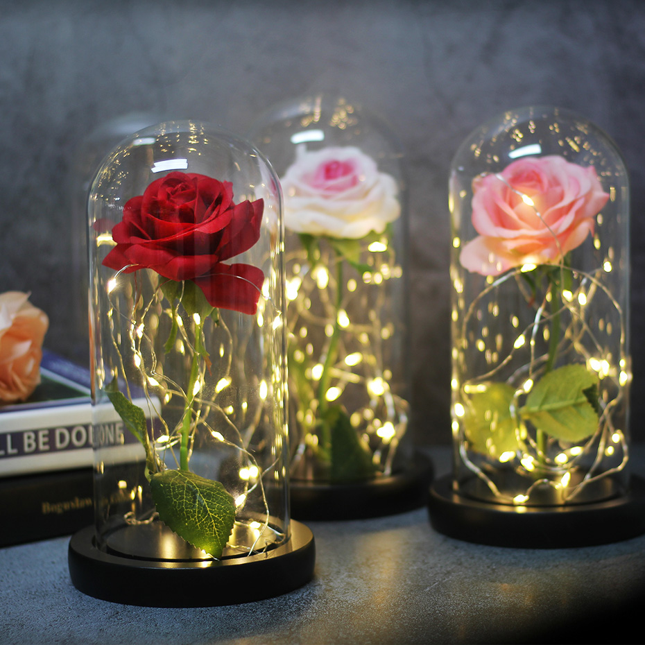 Image 5 - Romantic, Eternal and Luminescent Little Prince, Eternal Roses for Christmas Gifts, Family Decoration and Artificial Flowers-in Artificial & Dried Flowers from Home & Garden
