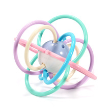 Купить с кэшбэком Baby Toys 0-1-Year-Old Baby 3-6-12 a Month Puzzle Early Childhood Teether Comfort Gutta-Percha Rattle Bell