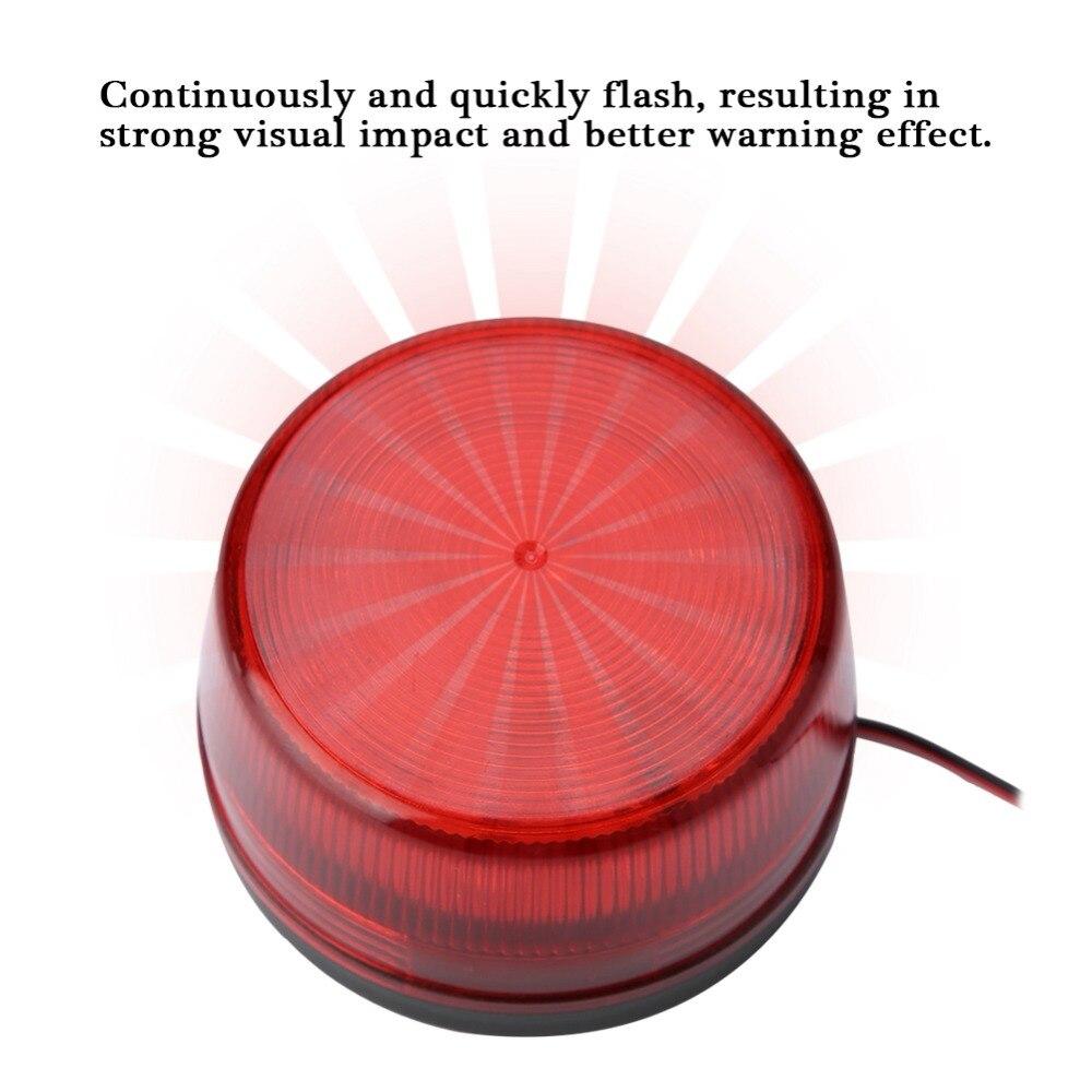 1PC LED Flashing Lamp Security Alarm Strobe Signal Warning Light High Brightness