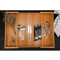 Expandable Cutlery Bamboo Drawer Organizer Cutlery Tray Kitchen Multi Functional Drawer Cutlery Storage Box for essential oils