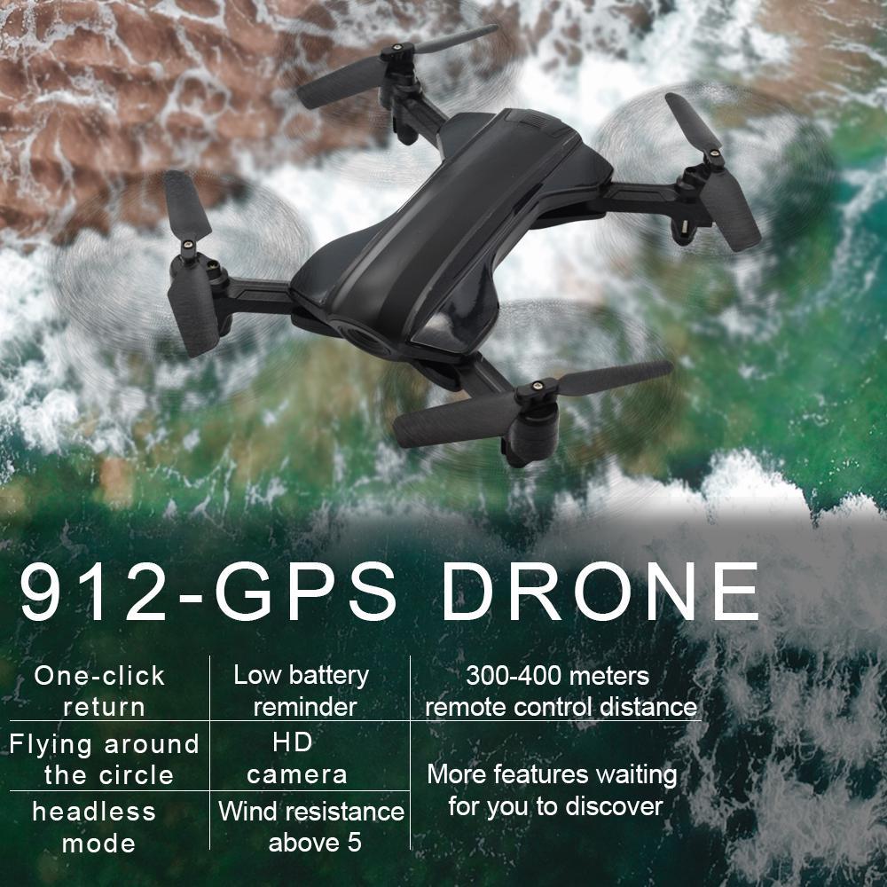 RCtown 912 RC Helikopter Professionele 5G WIFI GPS Borstelloze Quadrocopter met 1080 P HD Kamera RC Drone Hediye SpeelgoedRCtown 912 RC Helikopter Professionele 5G WIFI GPS Borstelloze Quadrocopter met 1080 P HD Kamera RC Drone Hediye Speelgoed