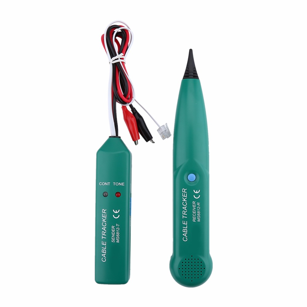 Network Cable Tracke MS6812 Telephone Wire Tracker LAN Network Cable Tester For UTP STP Cat5 Cat6 RJ45 RJ11 Line Finding Testing
