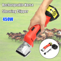 Doersupp 12V 450W Electric Cordless Horse Clipper Shears Sheep Shearing Pet Clipper Cutter Scissors Animal Tools Rechargeable