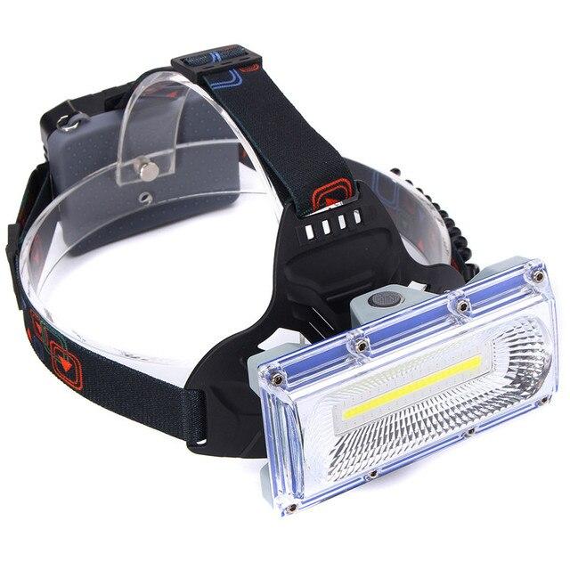 Mising 30 W LED COB USB Rechargeable avec/sans 18650 piles COB LED phare lampe de poche torche de pêche