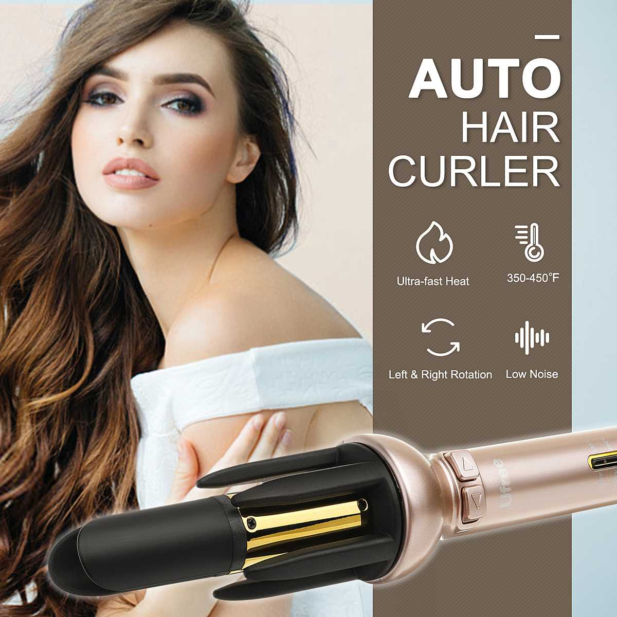 EU/US Plug Professional Automatic Ceramic Hair Curler 100-240V 32W Wave Hair Curling Styling Iron Styler Fast Heating StylingEU/US Plug Professional Automatic Ceramic Hair Curler 100-240V 32W Wave Hair Curling Styling Iron Styler Fast Heating Styling