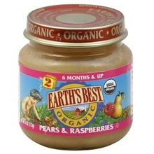 Earths Best Baby Foods BG12461 Earths Best Baby Foods Baby Pear-RaspBerry - 12x4OZ()