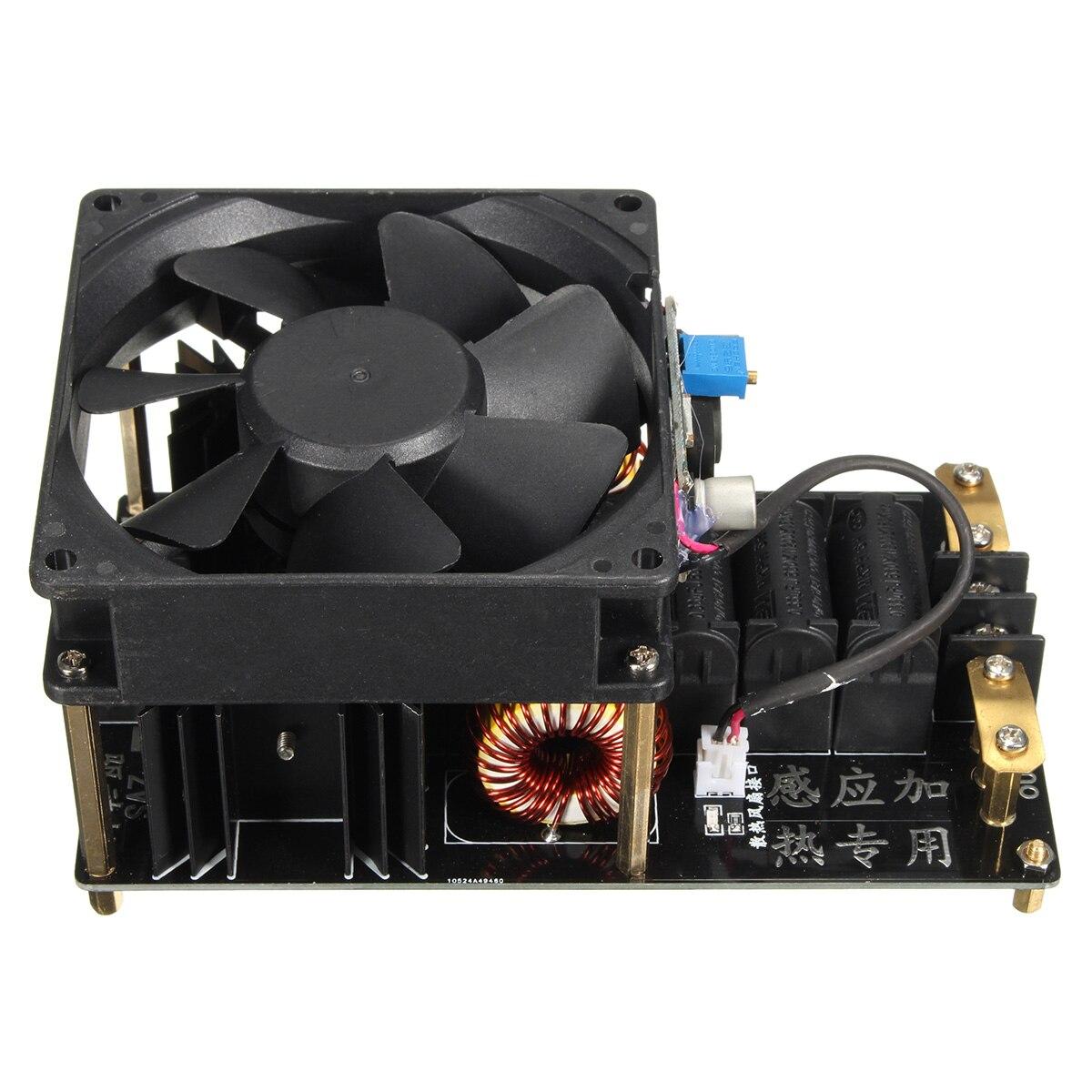 Nouveau ZVS Machine de chauffage par Induction ventilateur de refroidissement PCB Tube de cuivre 12-36 V 1000 W 20A haute fréquence Module de chauffage par Induction