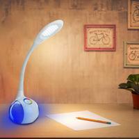 5W LED Desk Lamp With Touch Dimmer Gooseneck LED Table Colorful Atmosphere Light Bedroom Bedside Desk Reading Light