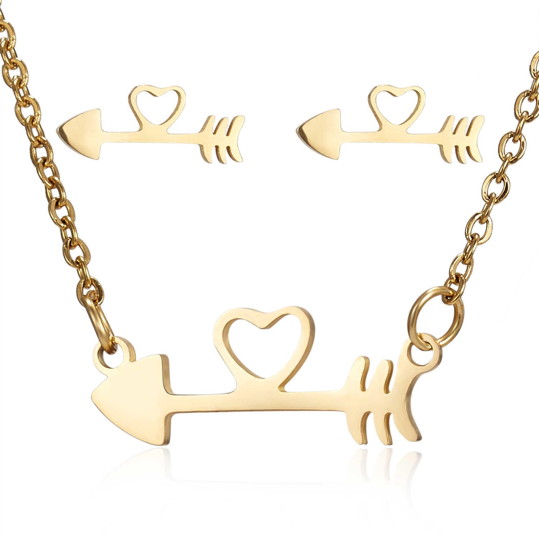 Rinhoo Rose Gold Farbe Halskette Ohrring Armband Ring Set Strass Neue Einfache Party Kleid Schmuck Sets Für Frauen Teufel auge