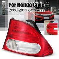 Rear Left/Right headlight Tail lights lamp taillights For Honda Civic 2006 2007 2008 2009 2010 2011 GX Sedan without bulbs