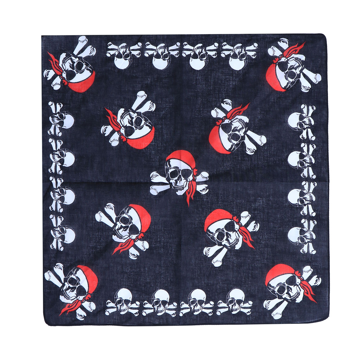 12pcs Pirate Handkerchief Pirate Accessories Scary Skull Hiphop Cotton Bandana Hair Accessory For Halloween Kids Cosplay Party