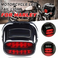 Motorcycle LED Tail Light Rear Brake Lights Turn Signal Number License Plate Lamp For Harley Fat Boy Road King
