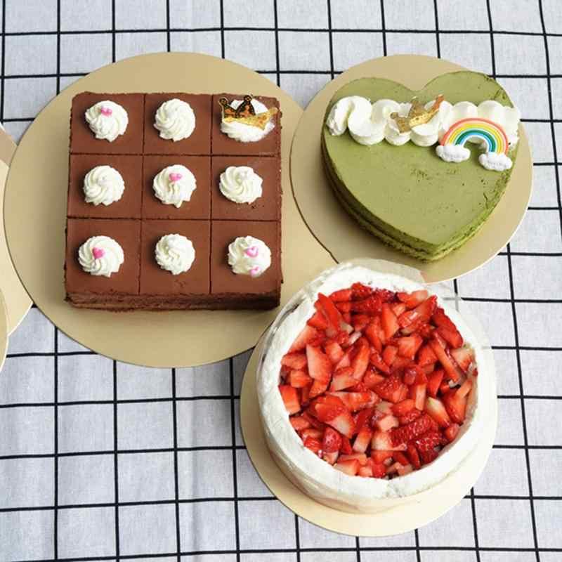 5 шт. 8/10 дюймов круглые доски для торта пищевой золотой карты доска для выпечки торта жесткая бумажная подставка инструмент для выпечки