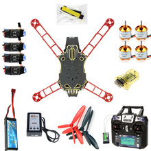 цена на DIY RC Drone Racer Aircraft Parts: CC3D Controller Version Q330 Frame Flysky FS-i6 6CH Transmitter Motor ESC F11797-L