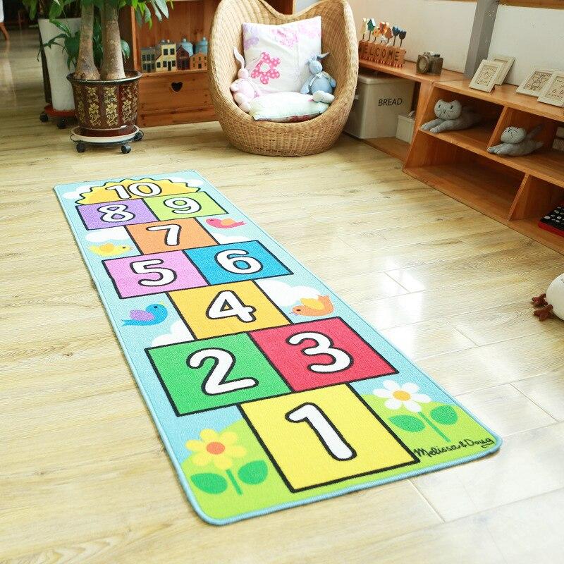 Nombre sautant bébé ramper tapis couverture infantile jouer Gym jeu Pad enfants tapis enfants tapis doux plancher tapis chambre décoration