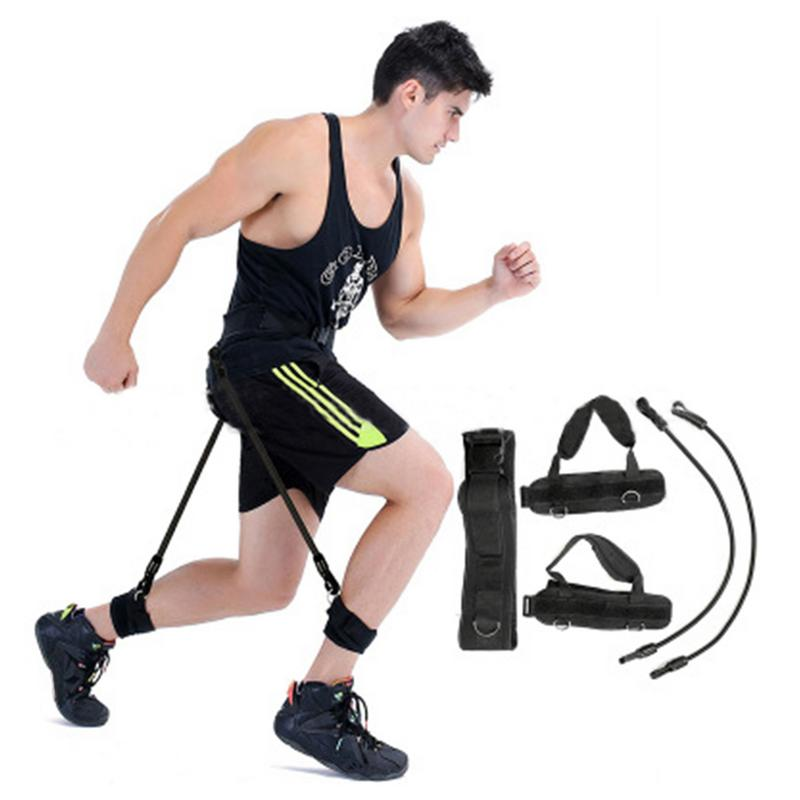 Sports & Entertainment Fitness Equipments Fitness Bounce Trainer Rope Resistance Band Basketball Rope Leg Strength Training Agility Pull Strap Jump Trainer Elastic Bands Selling Well All Over The World