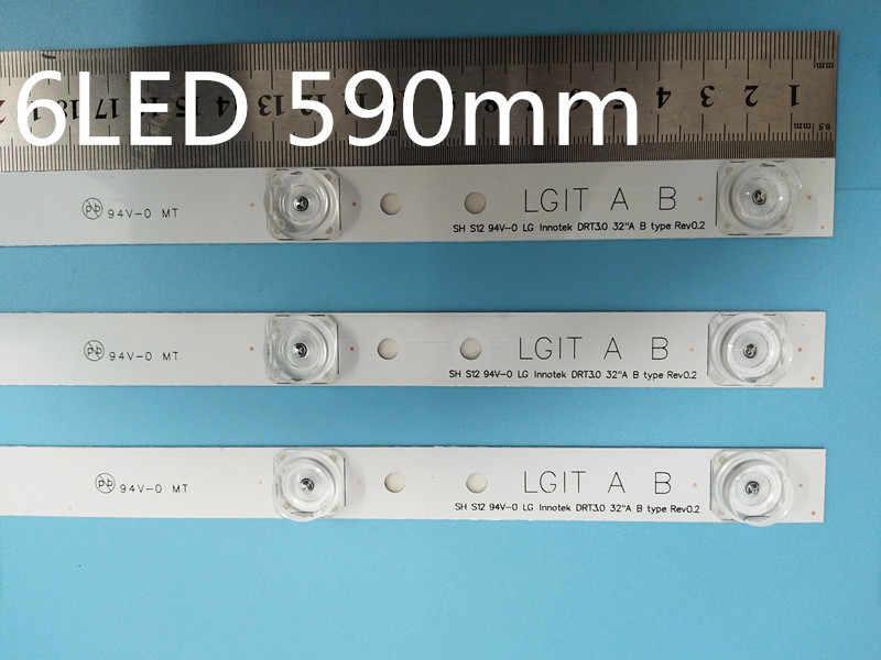 كامل LED الخلفية شريط صفيف الكمال متوافق ل 32LB561V UOT Ab 32 بوصة DRT 3.0 32 Ab 6916l-2223A 6916l-2224A 3 * 6LED 590 مللي متر