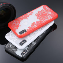 Popular Sexy Floral Phone Case For Apple iPhone 7 8 6 6s 55s SE Plus Lace Flower Hard PC Cases Back Cover For iPhone X XR XS Max goowiiz кванхон iphone 55s